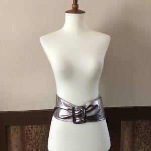 Betsey Johnson Wide Metallic Belt